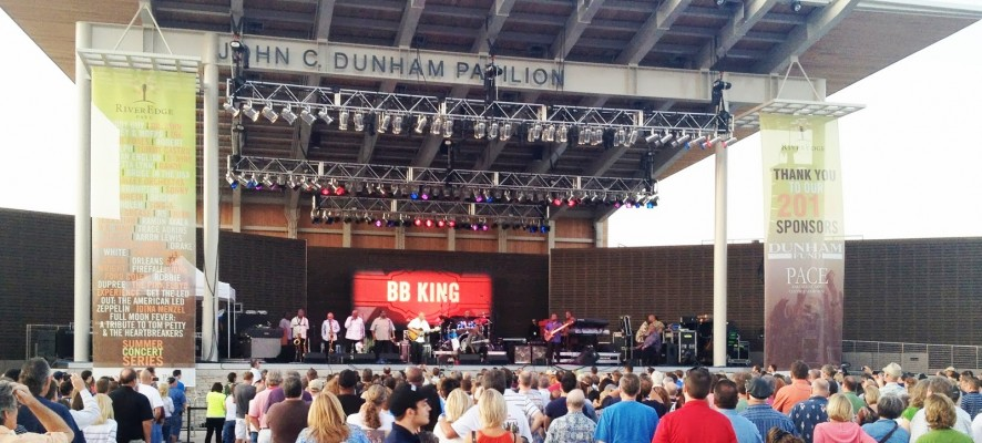 B.B. King at RiverEdge Park 2013